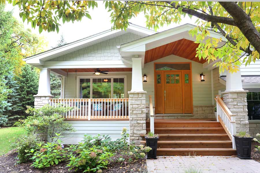 Split Level Home Addition Creates Craftsman Inspired Look