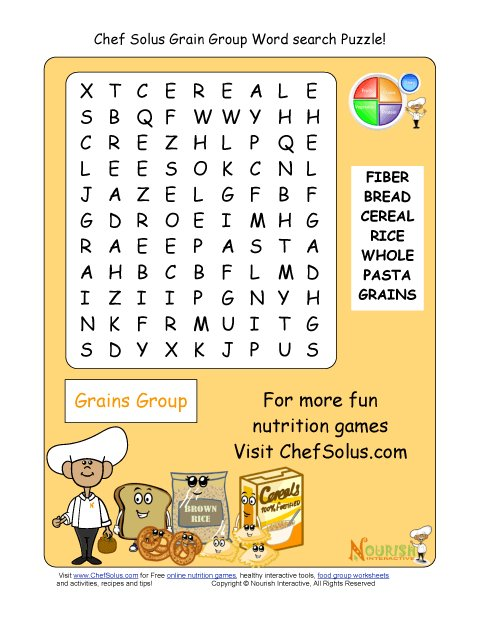 Group Bingo Printable Food