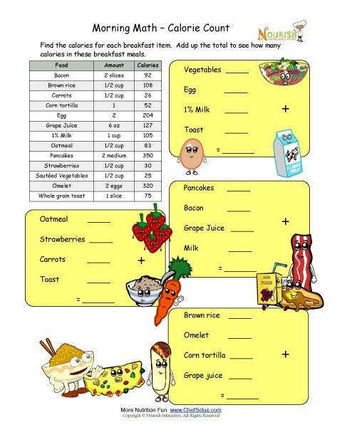 Free Printable Food Labels Worksheet