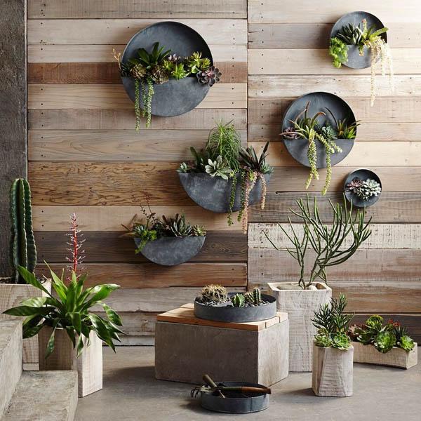 Akari Natural Wood Indoor Planter Pots Nova68 Com