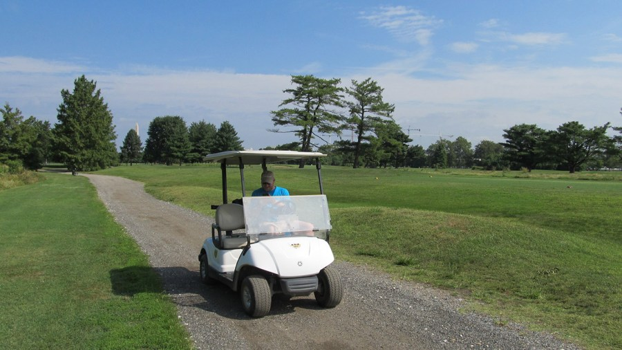 Golf Course as Classroom  University of Pennsylvania at East Potomac     University of Pennsylvania students use golf carts to conduct research at East  Potomac Park