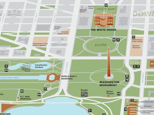 Hd Map Washington Dc Monuments