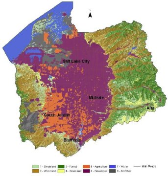 Salt Lake County Resource Assessment   NRCS Utah Salt Lake County Land Use Map