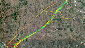 HD Decor Images » 2011 Spring Tornado Outbreaks Central Oklahoma damage survey map with EF scale contours overlaid