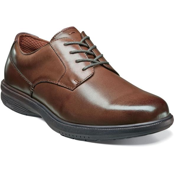 Men S Dress Shoes Brown Moc Toe Lace Up Nunn Bush