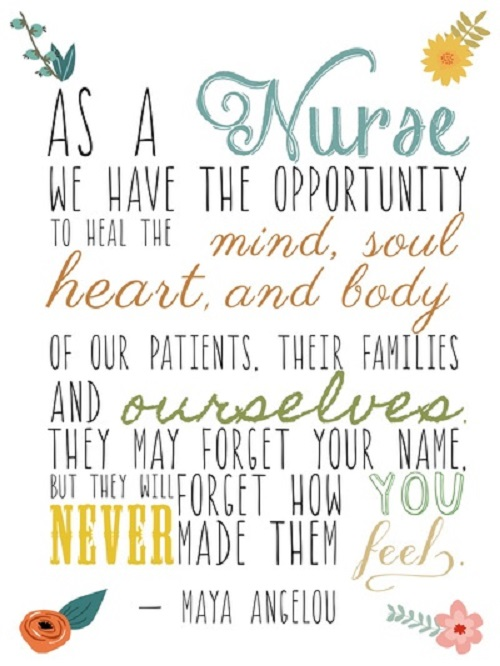 Maya Angelou Nurse Quote