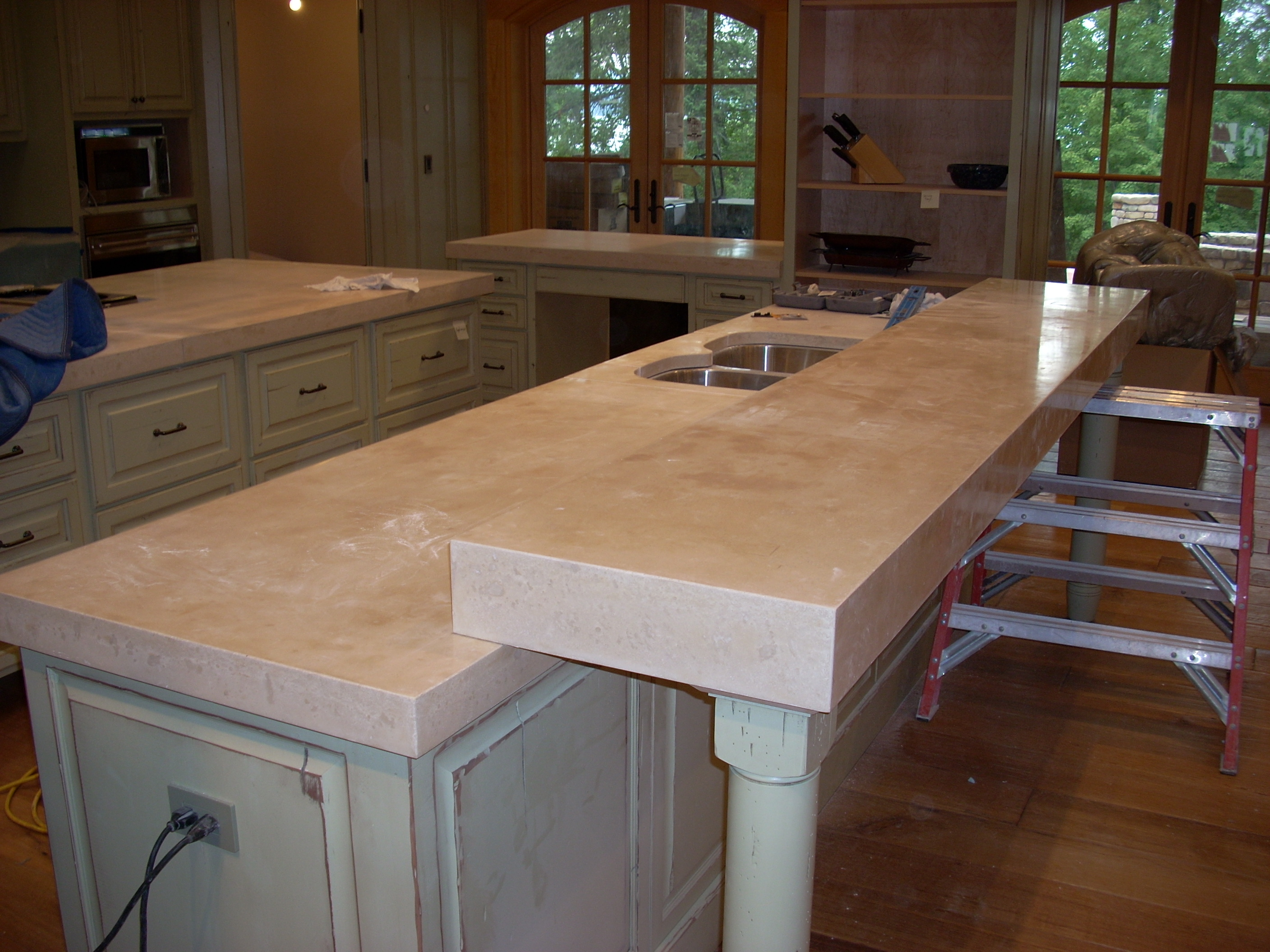 Rustic Kitchen Solid Surface Countertops