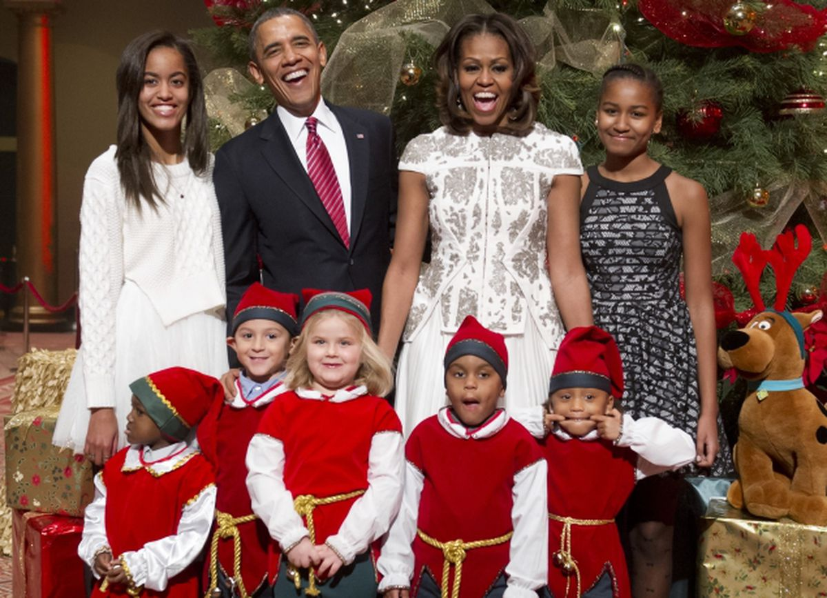 Obama's daughters shine bright as first family attends ...