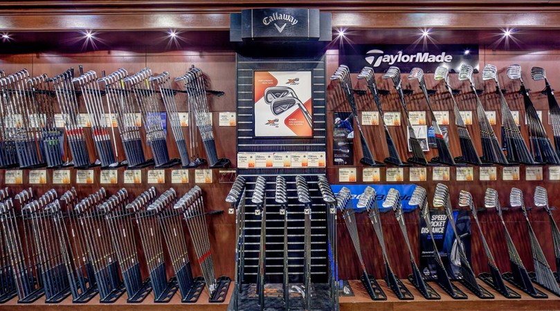 New York City Golf Stores   NYC s Premier Golf Shops   NYGC Iron Set Wall