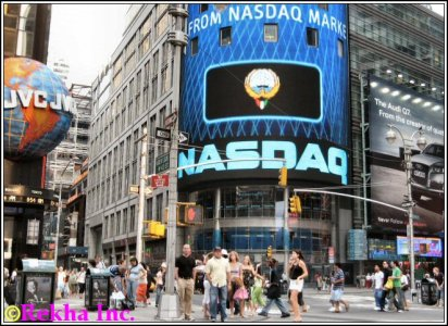 new york nasdaq market building in times square pictures of new york