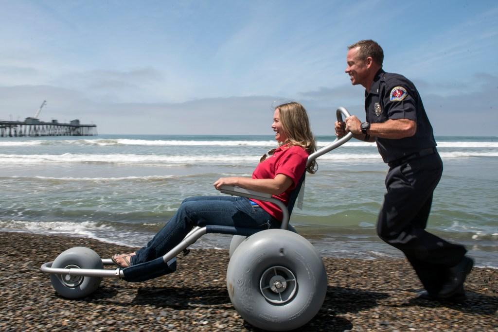 San Clemente lifeguards get $3,000 beach wheelchair to ...