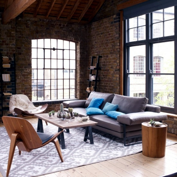 Natural Color Earth Colors In Brown Living Room