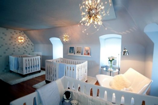 Precious Baby Room Interiors For Triplets Provides Style