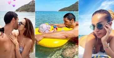 Giorgia Palmas e Filippo Magnini, la prima vacanza dopo il matrimonio è tutta coccole e… formato famiglia