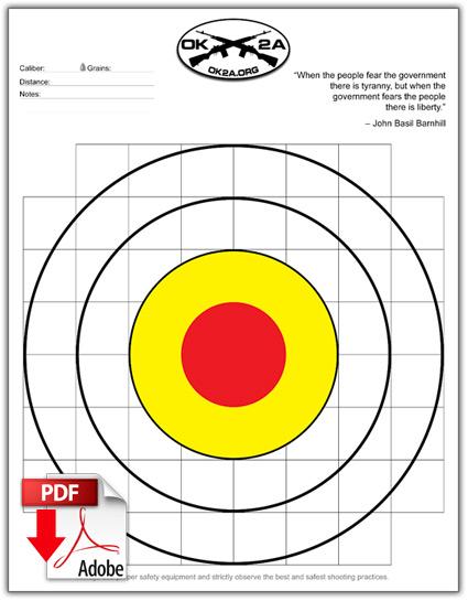 free printable shooting target # 15