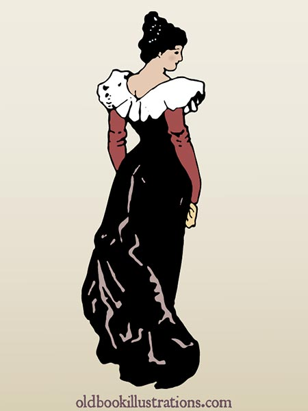 Victorian Woman Vector Graphic 187 Old Book Illustrations