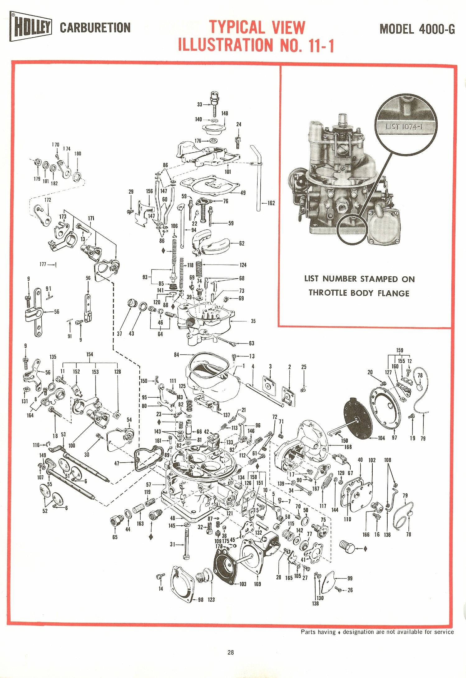 Holley 4000g Exploded Diagrams The Old Car Manual Project