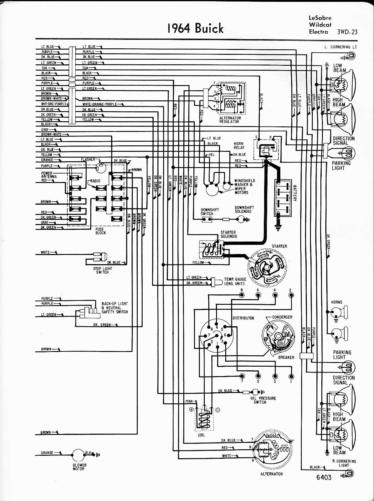 Buick wiring diagrams 1957 1965 rh oldcarmanualproject 1992 buick lesabre fuse box diagram 1997 buick