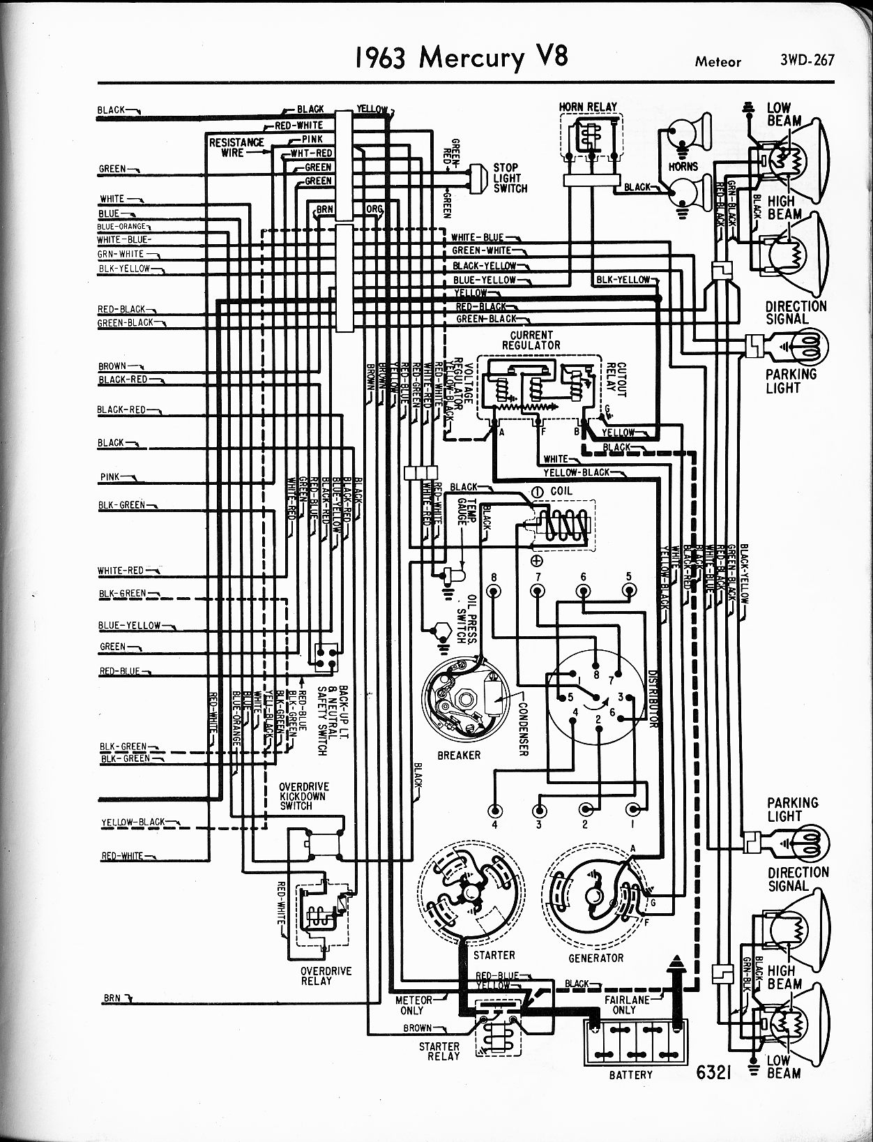 Mercury wiring diagrams the old car manual project rh oldcarmanualproject 55 mercury montclair 50 mercury