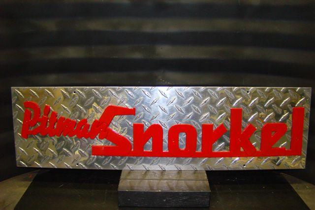 Quot Pitman Snorkel Quot Original Maker S Apparatus Nameplate