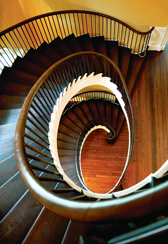Early Staircases Winder Box Spiral Old House Journal Magazine | Semi Spiral Staircase Design | Curved Staircase | Residential Library | Interior | Futuristic | Iron