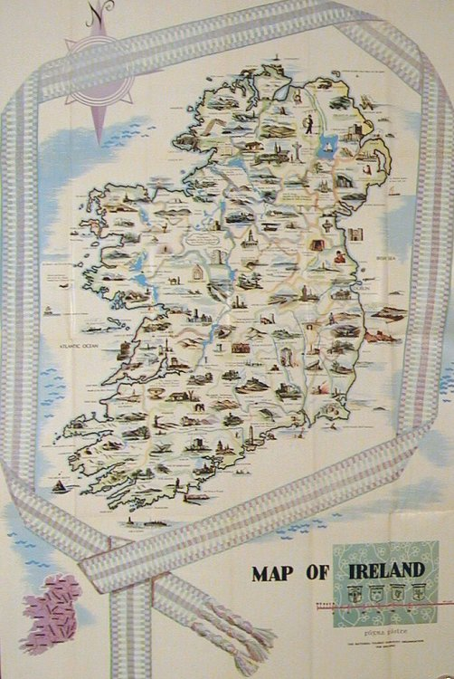 L Irlande Vous Invite  Map title  Map of Ireland   IRELAND L Irlande Vous Invite   Map title  Map of Ireland   IRELAND