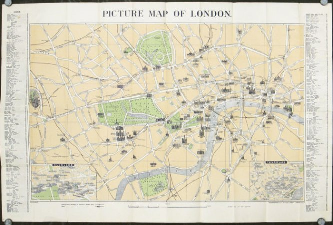 Geographia Picture Map of London  Map title  Picture Map of London      Map title  Picture Map of London