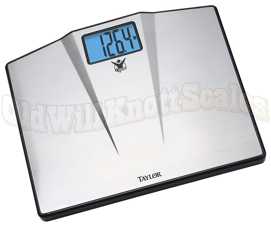 Taylor 7410 550 Pound Bathroom Scale With Stainless Steel