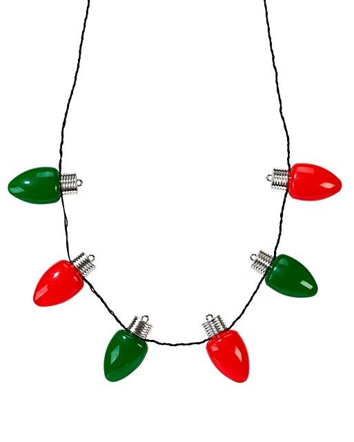 Large Bulb Christmas Light Necklace