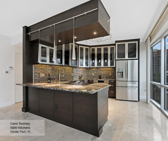 Contemporary Walnut Kitchen Cabinets   Omega