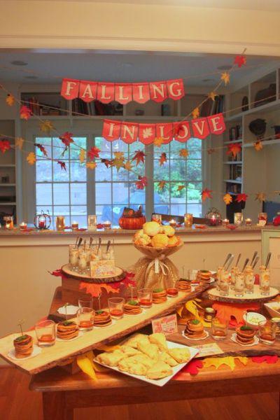 Fall Wedding Shower Ideas
