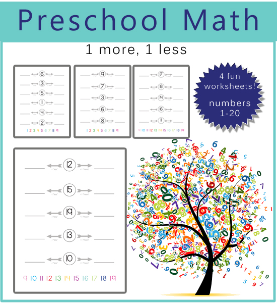 Math And Counting More Less Worksheet