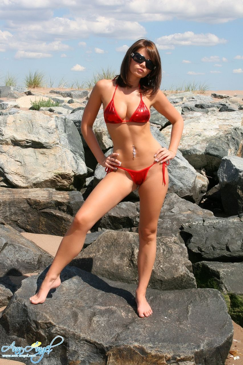 Anne Angel Red Bikini Onecoolthing Today