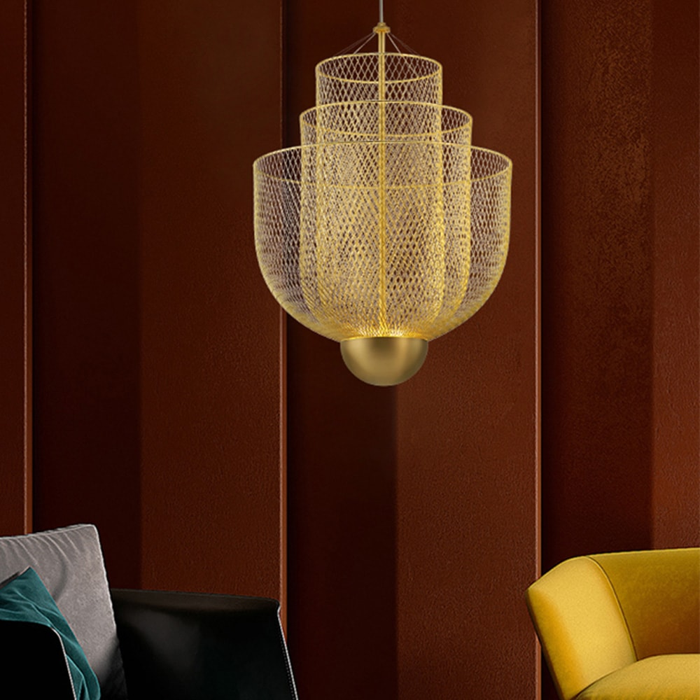 Moooi Meshmatics New Design Chandelier Gold One Two