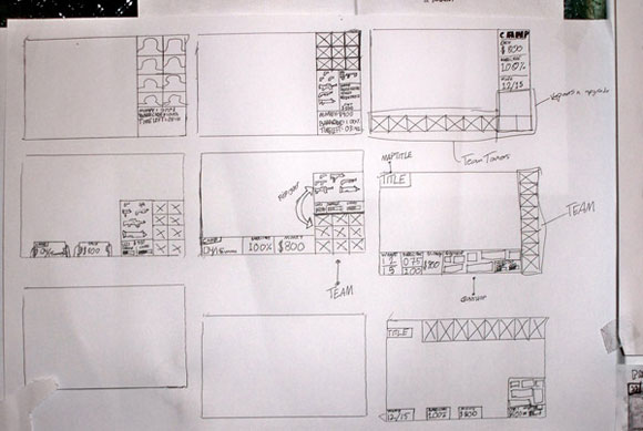 40 Brilliant Examples of Sketched UI Wireframes and Mock Ups Game Interface Sketch
