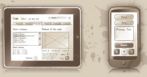 50 Useful and Free Web UI  Mobile UI and Wireframe Kits Sqetch  an Illustrator Wireframe Toolkit