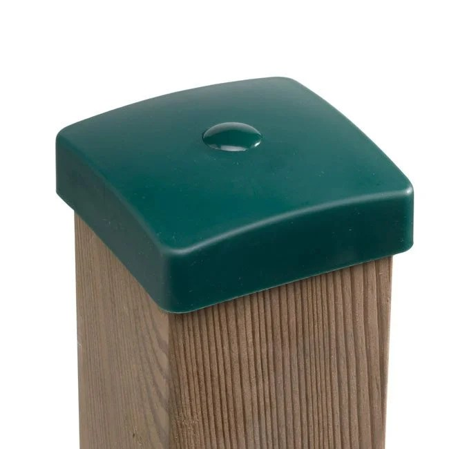Green Plastic Wooden Post Protection Cover Caps With