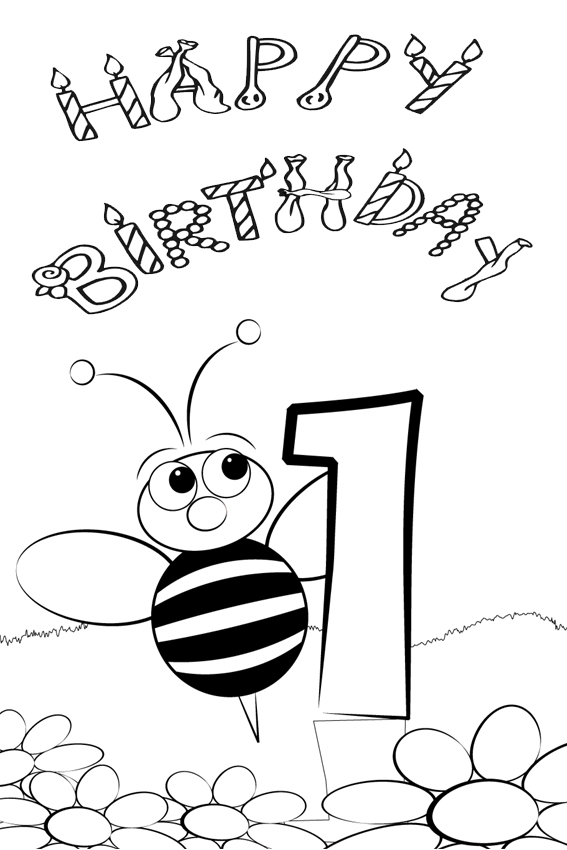 Happy 8th Birthday Coloring Pages