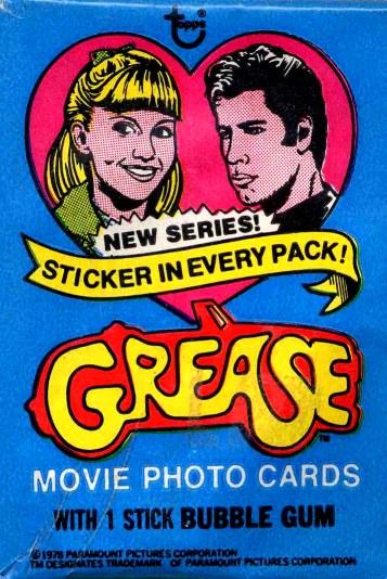 Grease Movie Memorabilia Bubblegum Trading Cards