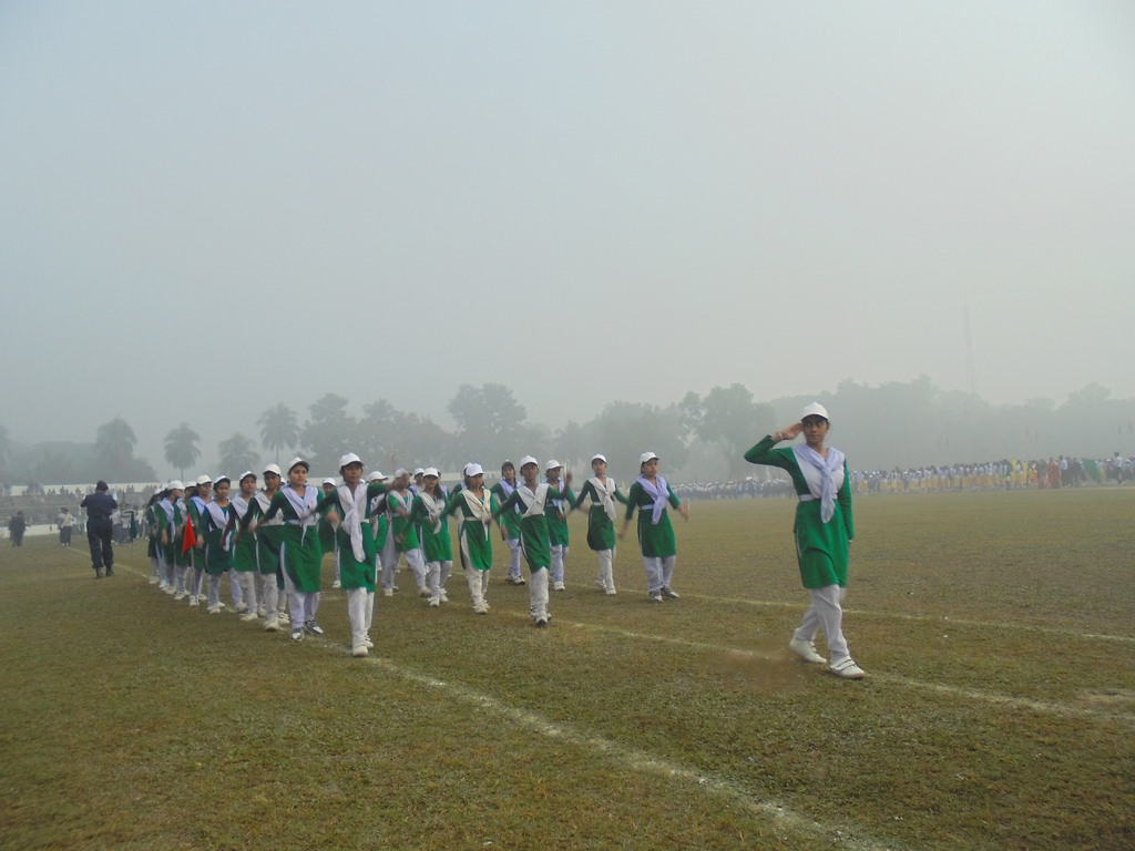 School Students celebrating Victory of Bangladesh
