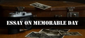 Essay on Memorable Day