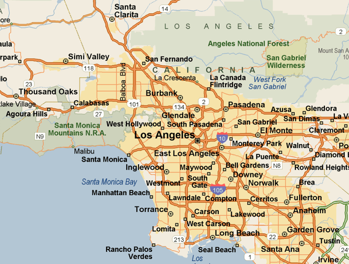Map Gardena And Surrounding Areas