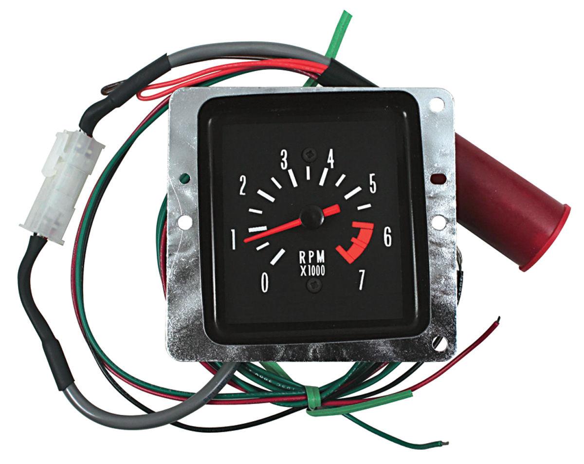 Tachometer Conversion Malibu In Dash White Fits 1971 72