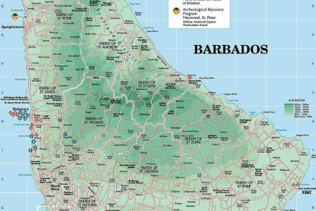 Tourist Of Barbados With Attractions Map Edi Maps Full - Tourist map of barbados