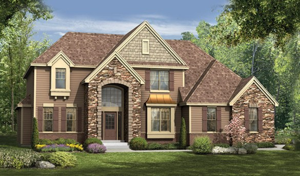 Two Story Homes     Orendorf Custom Homes Manchester rendering