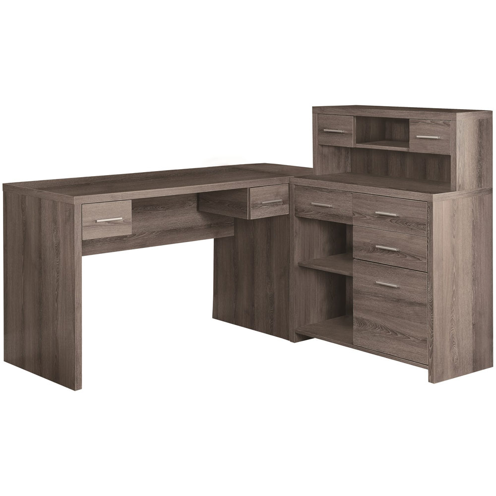 Dark Wood Desks Home Office