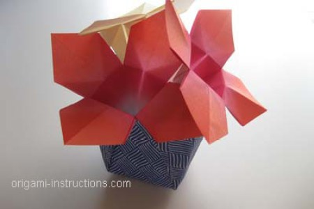 How To Make An Origami Flower Vase Beautiful Flowers 2019