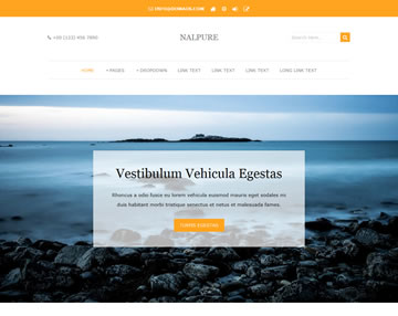 Free Website Templates Page 1 of 31  Total of 278 Templates    OS     Nalpure Website Template