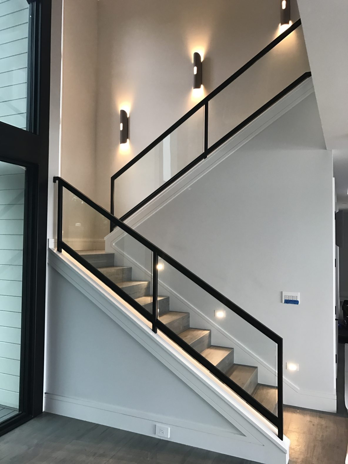 Interior Glass Stair Railing • Ot Glass   Steel And Glass Staircase   Living   Wood   Contemporary   Old House   Glass Design Golden