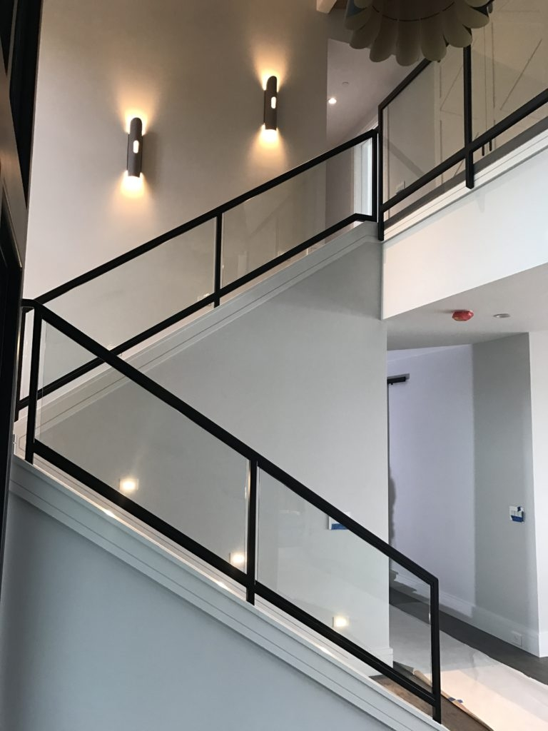 Interior Glass Stair Railing Ot Glass | Steel Railing With Glass For Stairs
